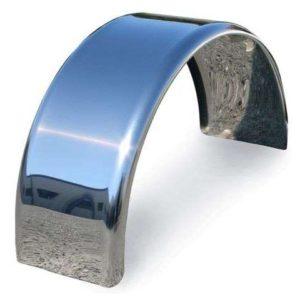 rhino light trailer single round stainless steel mudguards